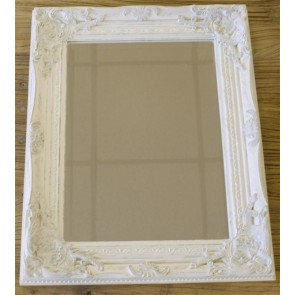 "17""x21"" White Gold Mirror"
