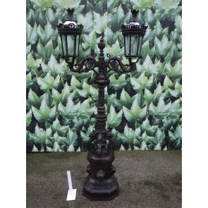 Twin Head Lamp Post Medium Cast Iron