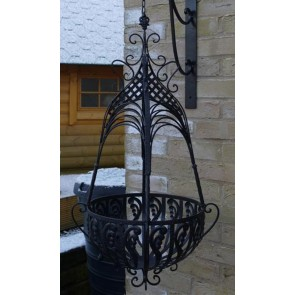 "15"" Large Black Hanging Basket"