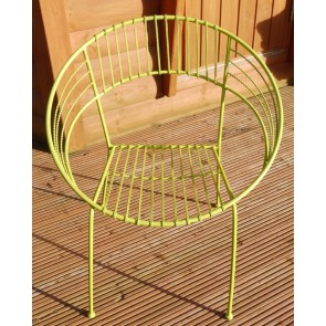 Green Retro Solid Steel Chair