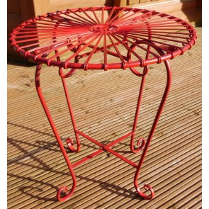Small Red Retro Table