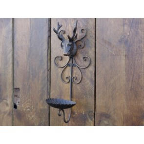 Stag Candle Holder Wall Mounted 14ins