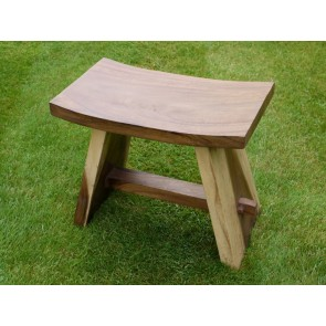 "Solid Wooden Teak Bench Stool 16"" High"