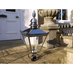 "32x15"" Stainless Steel Street Lamp Lantern Top For Cast Iron Posts & Brackets"