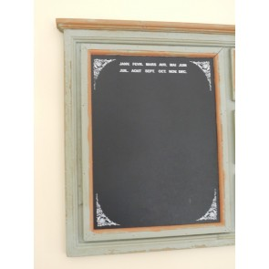 Chalk Notice Board With 3 Photo Frames 37x19ins