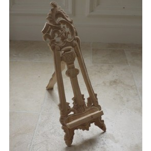 "Small 19"" High Solid Mahogany Carved Picture Artists Easel Stand"