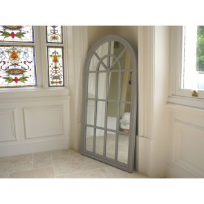 "51""x27"" Large Gothic Style Arched Wall Mirror"