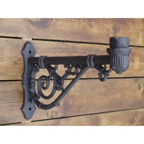 55cm Cast Iron Wall Lamp Bracket with 6cm Spigot