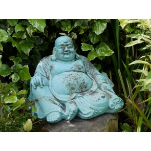 Antique Blue Happy Buddha