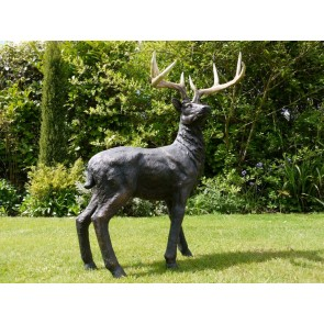 """Standing Stag Resin 39"""" High"""