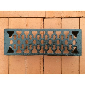 "New Victorian Style Black Cast Iron Air Vent Brick  9"" X 3"""