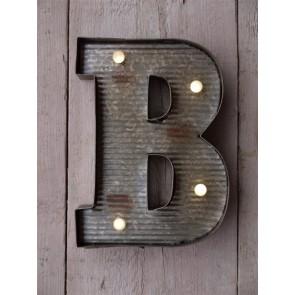 """B Illuminated Metal Fairground Style 10"""" Letter"""