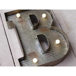 B Illuminated LED Galvanized Style Tin Metal Fairground Style 10