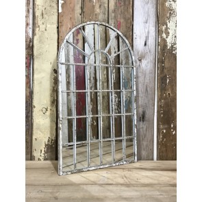 Industrial Arched Metal House Wall Or Garden Mirror 60.5cm Tall 36cm Wide