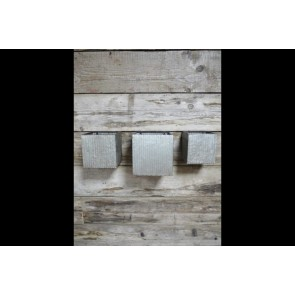 Set Of 3 Industrial Square Wall Planters Small Medium Large