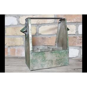 Industrial Bottle Holder Carrier Shabby Chic Green