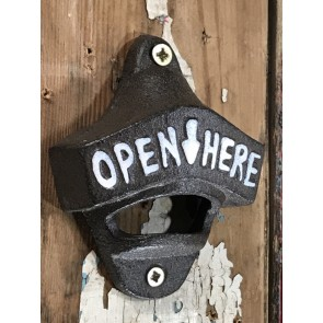 Strong Heavy Cast Iron Bottle Top Opener Wall Mounted