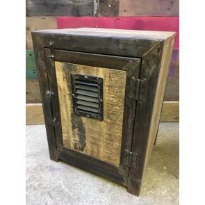 Industrial Cabinet Cupboard With Shelf Freestanding 61x46.5x38cm