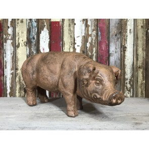 Brown Standing Farm Old Spot Pig Sow Statue 2'6 Resin