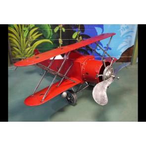 "Red Model Aeroplane Resembling Bi-Plane 36""x79""x79"""