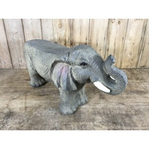 Small Detailed Elephant Stool Foot Rest Seat 43x24x83cm