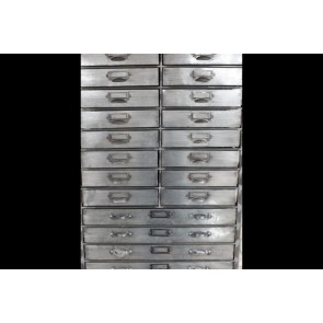 "Industrial Storage Unit Cabinet With 26 Drawers 72""x26¾"""