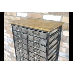 "Freestanding Industrial Storage Unit Cabinet With 22 Drawers 51 1/8""x21"""