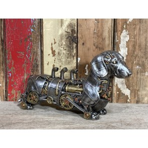 Sausage Dachshund Dog Steampunk Hound K9 Puppy Pouch Unusal Resin