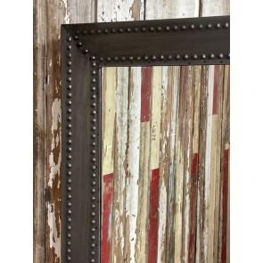 Riveted Industrial Style Metal Wall Mirror Steel 83x58cm