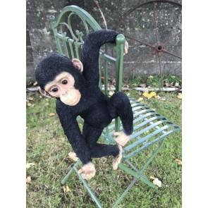 Cheeky Little Hanging Monkey Ape Jungle Garden Home Ornament 32cm Tall Resin