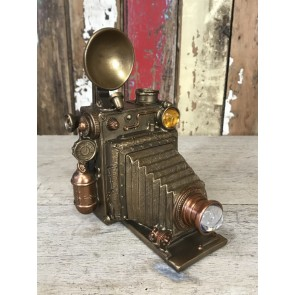 Mad Hatters Steampunk Old Fashion Camera Ornament Industrial Home Decoration New Resin 19cm Tall