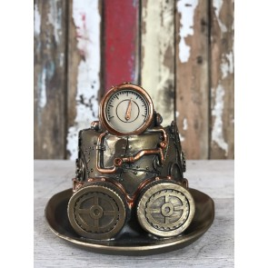 Steampunk Bowler Hat Goggles Mad Hatters Ornament Industrial Decoration