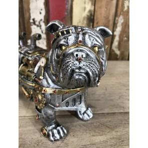 Steampunk Bulldog Puppy Standing Dog Industrial Decoration 29cm K9