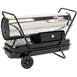 Draper 32672 Stainless Steel Diesel/Paraffin Space Heater On Wheels 102000BTU
