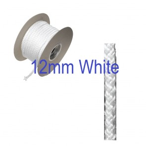12mm Stove Woodburner Door Fire Rope Seal White