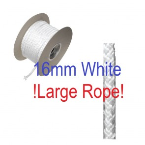 16mm Fire Rope Seal White
