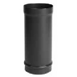 Enamelled Straight Flue Pipe Matt Black 6in 150mm X 306mm