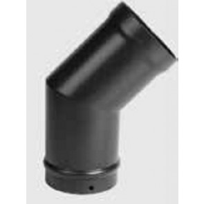 Stovax Flue Pipe 150 Degree Bend Without Door Enamelled Matt Black 6in 150mm