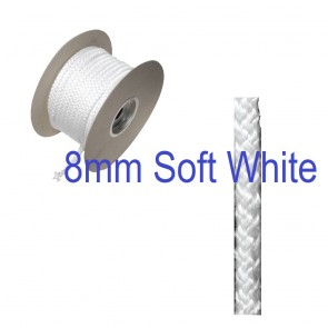 8mm SOFT Fire Rope Seal White