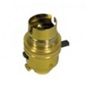 Switched Lamp Holder 1/2inch Brass