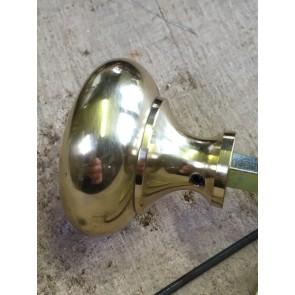 Repro Solid Brass Door Knob Handle Set For Rim Locks