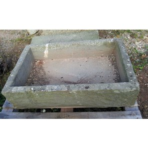 Reclaimed Weathered Green Pennant Old Somerset Stone Sink Garden Planter Tub 3ft