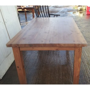 6'x3' Reclaimed Chunky Pine Square Legged Country Kitchen Dining Table