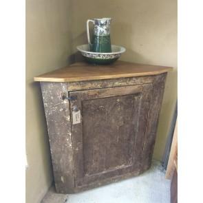Reclaimed Old Rustic Pine Corner Cupboard 4ft