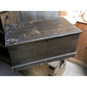 """Reclaimed Victorian Painted Pine Old Blanket Box Strong Chest 33½"""" Long"""
