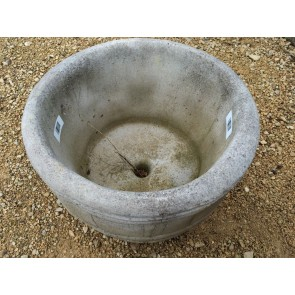 """Lovely New Modern Concrete 15"""" Barrel Style Garden Stone Planter Pot"""