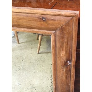Old Reclaimed Large Pine Frame With An Even Older Mirror 43