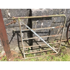 "Old Salvaged Steel 6 Bar Galvanized Single Gate 46"""