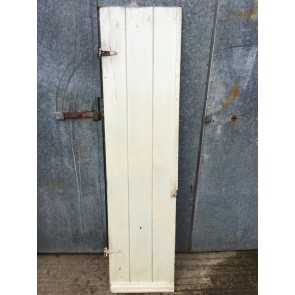 "19""x76 3/4"" Reclaimed Old Painted Pine 3 Plank Ledge Narrow Internal Door"