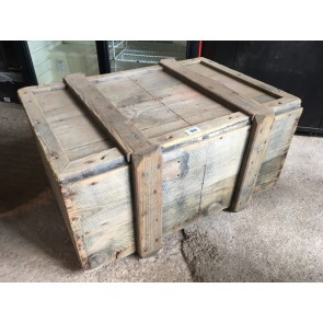 Reclaimed 1930s Pine Shipping Storage Blanket Box Chest